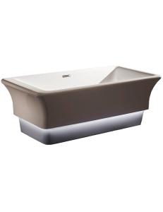 Abber AB9221 Ванна акриловая отдельностоящая с подсветкой, 168х85 см