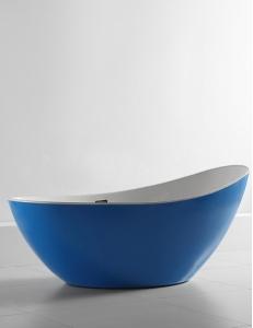 Abber AB9233DB Ванна акриловая отдельностоящая 184х79 см, синий