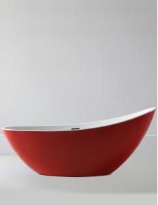 Abber AB9233R Ванна акриловая отдельностоящая 184х79 см, красный