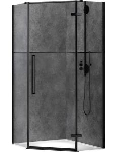 Abber Ewiges Wasser AG05080B Душевой уголок 80х80 см с распашной дверью