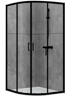 Abber Schwarzer Diamant AG01100B Душевой уголок с раздвижными дверьми