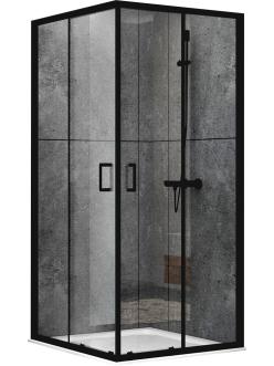 Abber Schwarzer Diamant AG02080B Душевой уголок с раздвижными дверьми