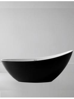 Abber AB9233MB Ванна акриловая отдельностоящая, 184х79 см, черный матовый