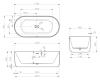 Abber AB9325-1.7 Ванна акриловая отдельностоящая, 170х80 см, белый