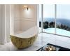 Abber AB9333Gold Ванна акриловая отдельностоящая, 180х80 см, золото