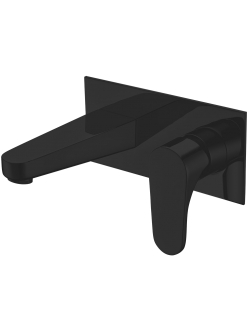 Смеситель для раковины скрытого монтажа Abber Eleganz AF8312 Черный
