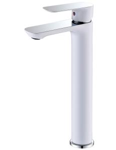 Abber Weiss Insel AF8011W смеситель высокий для раковины, белый/хром