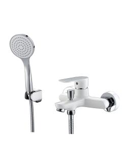 Смеситель для ванны Abber Weiss Insel AF8012W Белый/хром