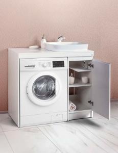 Alavann Soft 100 Тумба под стиральную машину с одной дверцей и накладной раковиной