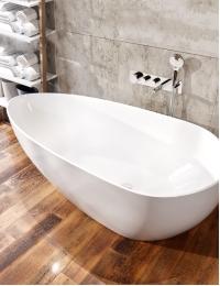 AquaStone Флоренция 170 Ванна асимметричная из искусственного камня