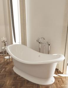 AquaStone Лиона 190 – ванна из искусственного камня на подиуме