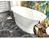 AquaStone Ниагара 160 – ванна из искусственного камня на подиуме