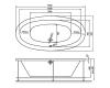 AquaStone Оливия 180 – ванна из искусственного камня на подиуме