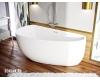 AquaStone София 170 – Асимметричная пристенная ванна из искусственного мрамора