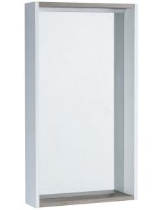 Акватон Бэлла 46 Зеркальный шкаф, Белый/Дуб
