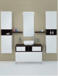 Акватон Интегро 100 Венге Комплект модульной мебели для ванной