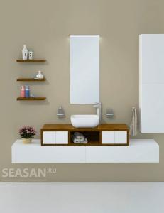 Акватон Интегро 120 Орех Комплект модульной мебели для ванной