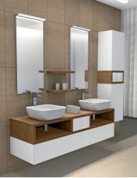 Акватон Интегро 160 Орех Комплект модульной мебели для ванной