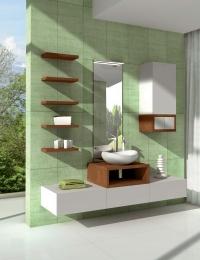 Акватон Интегро 60 Орех Комплект модульной мебели для ванной