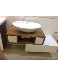 Акватон Интегро 80 Орех Комплект модульной мебели для ванной