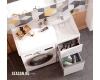 Комплект Акватон Лондри 120 – Тумба с раковиной под стиральную машину