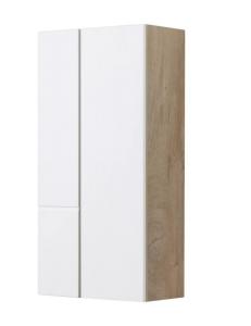 Акватон Мишель 43 Шкаф навесной, Белый/Дуб