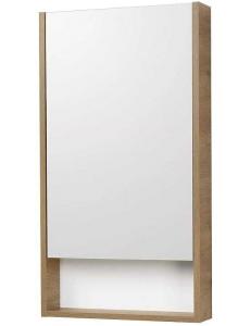 Акватон Сканди 45 Зеркальный шкаф, Белый/Дуб