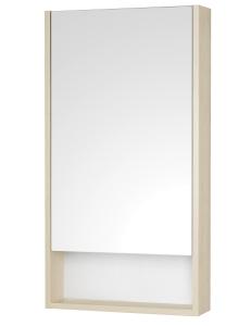 Акватон Сканди 45 Зеркальный шкаф, Белый/Дуб Верона
