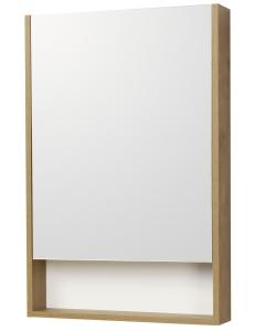 Акватон Сканди 55 Зеркальный шкаф, Белый/Дуб