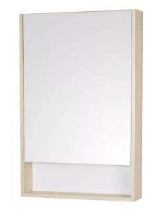 Акватон Сканди 55 Зеркальный шкаф, Белый/Дуб Верона