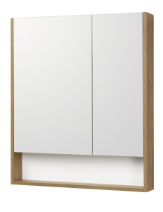 Акватон Сканди 70 Зеркальный шкаф, Белый/Дуб