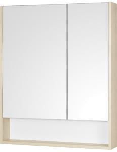Акватон Сканди 70 Зеркальный шкаф, Белый/Дуб Верона