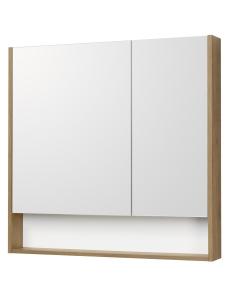 Акватон Сканди 90 Зеркальный шкаф, Белый/Дуб