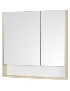Акватон Сканди 90 Зеркальный шкаф, Белый/Дуб Верона