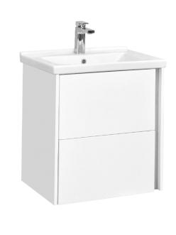 Aquaton Стоун 60 – Тумба под накладную раковину, Белый глянцевый