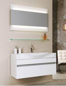 Aqwella Bergamo 100 Подвесной комплект мебели