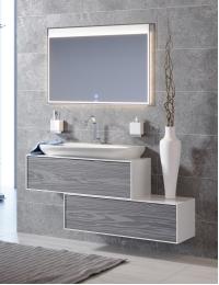 Aqwella Genesis 100 Миллениум серый – модульная мебель для ванной