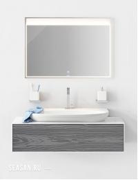 Aqwella Genesis 120 Миллениум серый – модульная мебель для ванной