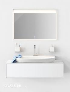 Aqwella Genesis 120 Белый глянец – модульная мебель для ванной