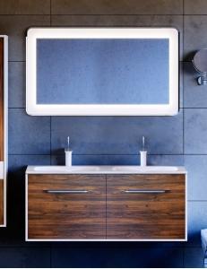 Aqwella Malaga 120 Крафт тёмный – комплект мебели для ванной