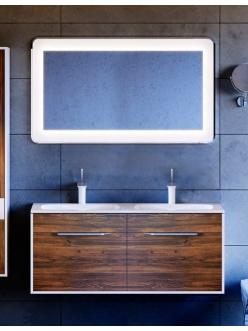 Аквелла Малага 120 Крафт тёмный – комплект мебели для ванных комнат