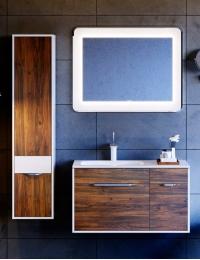 Aqwella Malaga 90 Крафт тёмный – Комплект мебели для ванной