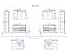 Aqwella Miami 90 – комплект мебели для ванных комнат