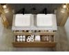 Aqwella Mobi 120 (Моби 120) Подвесная мебель для ванной с накладной раковиной