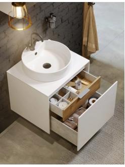 Aqwella Mobi 60 (Моби 60) Подвесная мебель для ванной с накладной раковиной