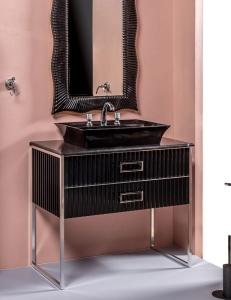 Monaco 100 Чёрный глянец мебель для ванной