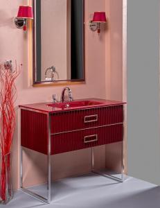 Monaco 100 Бургундия глянец мебель для ванной