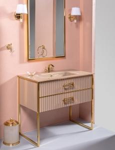 Monaco 100 Капучино глянец мебель для ванной
