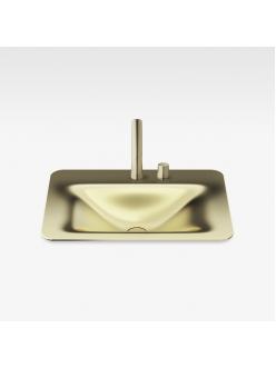 Armani Roca Baia – Раковина встраиваемая сверху 66 см, matt gold (3270C2R82)