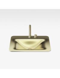 Armani Roca Baia Раковина встраиваемая сверху с бортиком 66 см с 2 отв., matt gold